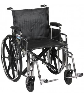 "Sentra Extra HD 20""-24"" Bariatric Wheelchairs by Drive"
