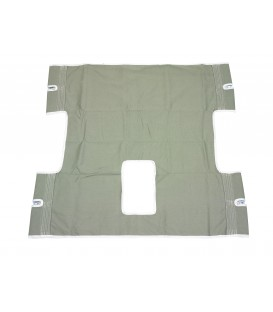 Drive Patient Heavy Duty Full Body Solid Canvas Sling with Commode Opening - 13061