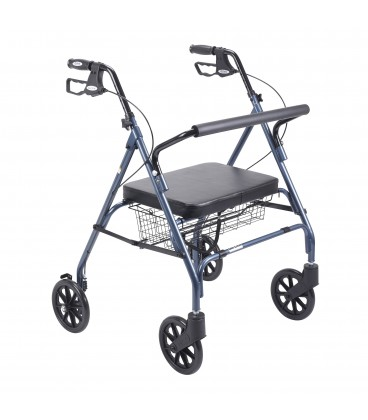 Drive Go Lite Heavy Duty Bariatric Rollator Walker Blue