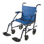 """Drive Fly Lite Ultra Lightweight 19"""" Aluminum Transport Wheelchair"""