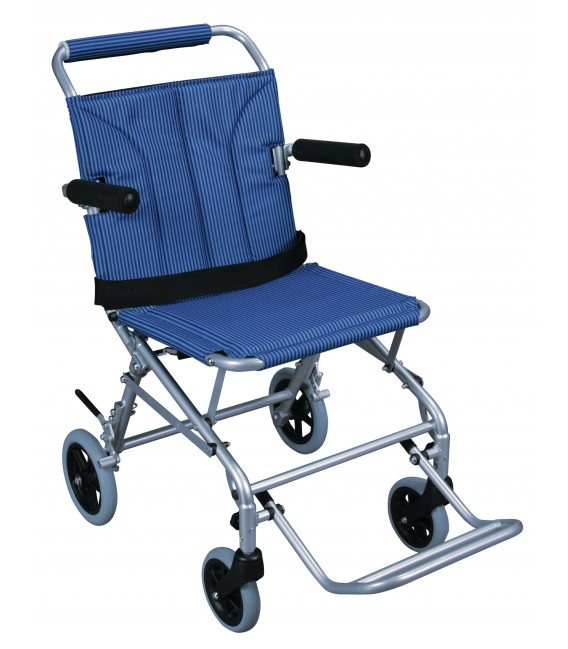 Drive Super Light Folding Transport Wheelchair with Carry Bag & Flip-Back Arms
