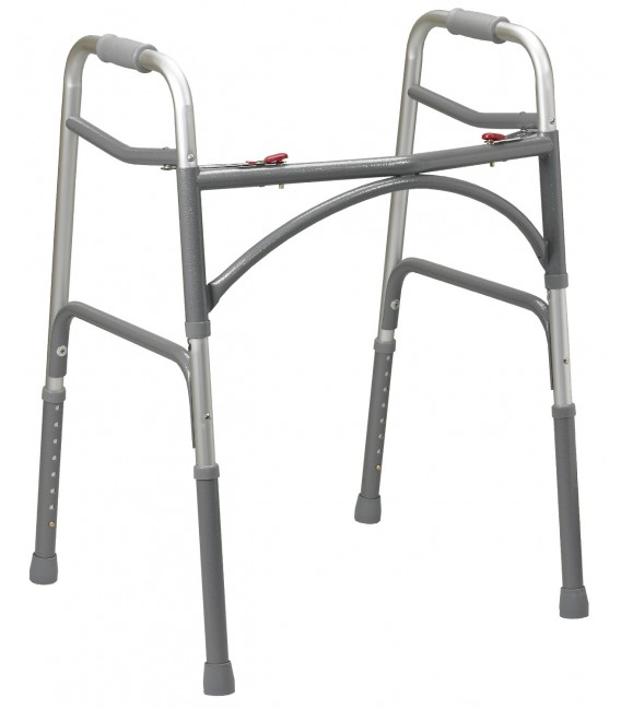 Heavy Duty Bariatric Two Button Folding Walker
