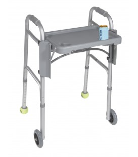 Folding Walker Tray with Cup Holders