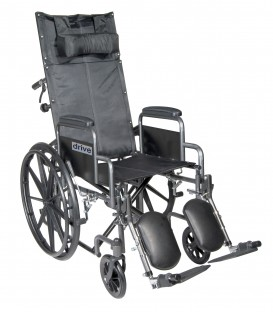"Silver Sport 16""-20"" Full-Reclining Wheelchairs by Drive"