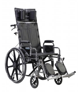 Drive Deluxe Sentra Full-Reclining Dual Axle Bariatric Wheelchair with Detachable Desk Arms