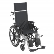 Viper Plus Reclining Wheelchair with Elevating Leg Rests &  Flip Back Arms by Drive