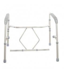 Bariatric Folding Bedside Commode Seat-650lb Wt
