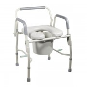 Drive Deluxe Steel Drop-Arm Commode with Padded Seat