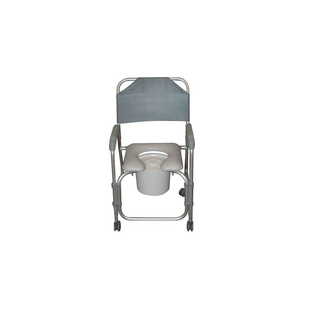 Lightweight portable shower commode chair with casters - Lightweight Portable Shower Chair Commode With Casters