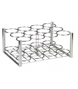 "Chrome Oxygen Cylinder Rack-Holds 12 (20.3"" x 15.6"" x 9.3"")"