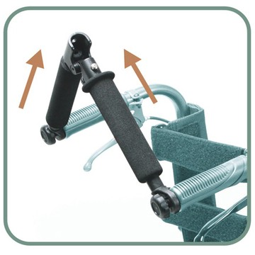 Push Handle with Foldable Hand Grip