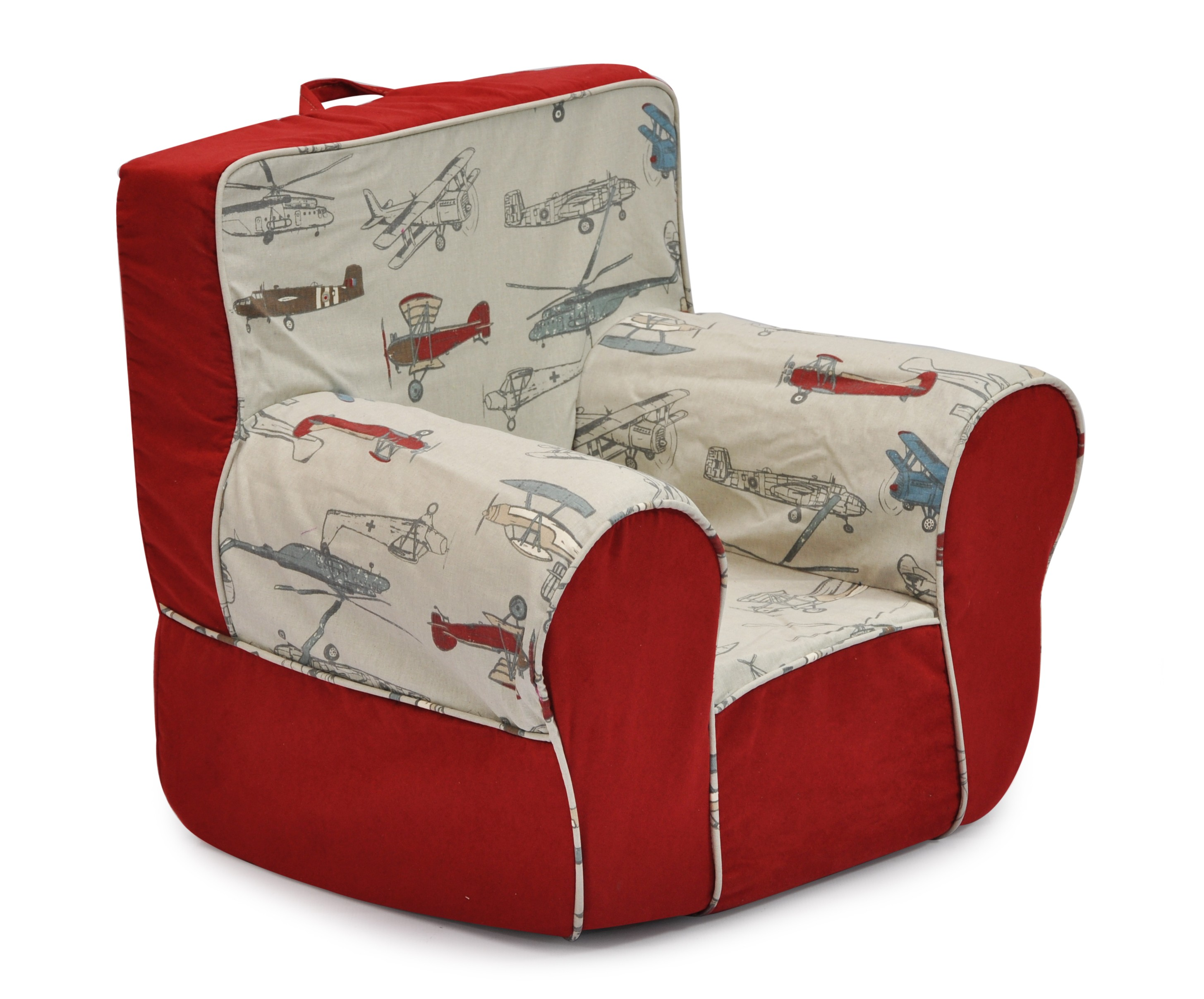 Mixy Vintage Airplanes - Red Suede