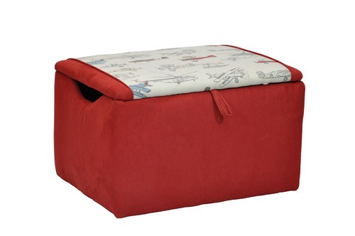Mixy Vintage Airplanes Red Suede Box