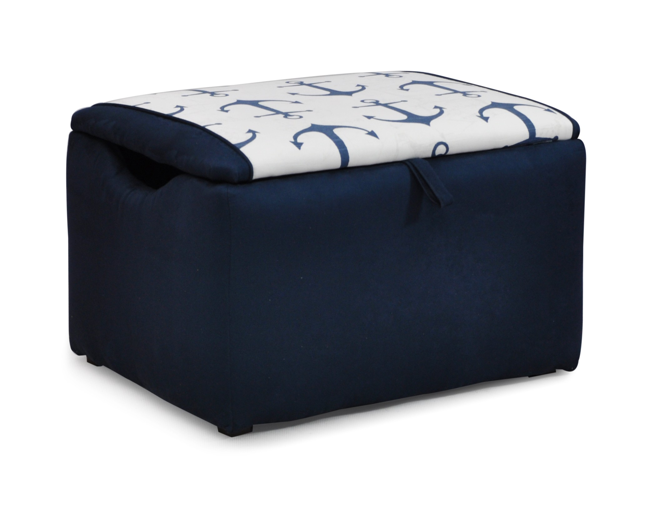 Mixy Anchors Navy Suede Box